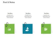 Agile Service Delivery Model Post It Notes Slides PDF