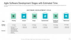 Agile Software Development Stages With Estimated Time Structure PDF
