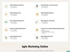 Agile Sprint Marketing Agile Marketing Outline Ppt Styles Templates PDF