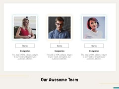 Agile Sprint Marketing Our Awesome Team Ppt Styles Brochure PDF
