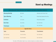 Agile Sprint Marketing Stand Up Meetings Ppt Pictures Show PDF