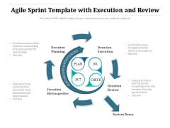 Agile Sprint Template With Execution And Review Ppt PowerPoint Presentation Icon Background Image PDF