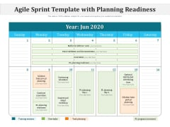 Agile Sprint Template With Planning Readiness Ppt PowerPoint Presentation Icon Example Introduction PDF