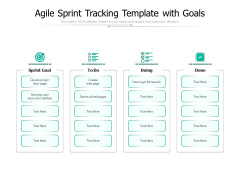 Agile Sprint Tracking Template With Goals Ppt PowerPoint Presentation Infographics Grid