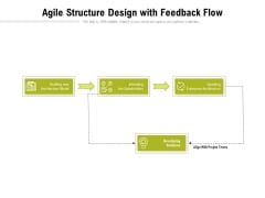 Agile Structure Design With Feedback Flow Ppt Powerpoint Presentation Styles Ideas Pdf