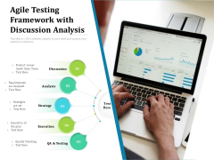 Agile Testing Framework With Discussion Analysis Ppt PowerPoint Presentation Infographic Template Background Images PDF