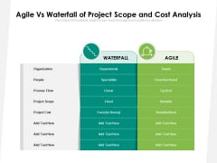Agile Vs Waterfall Of Project Scope And Cost Analysis Ppt PowerPoint Presentation Gallery Themes PDF