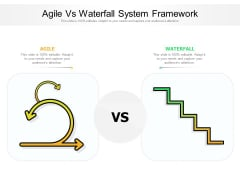 Agile Vs Waterfall System Framework Ppt PowerPoint Presentation Gallery Layout Ideas PDF