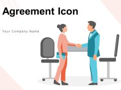 Agreement Icon Handshake Conversation Arrows Ppt PowerPoint Presentation Complete Deck