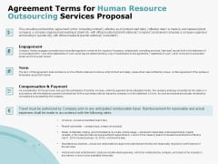 Agreement Terms For Human Resource Outsourcing Services Proposal Microsoft PDF