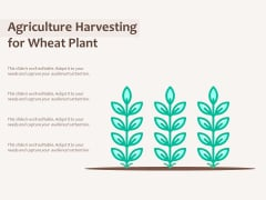 Agriculture Harvesting For Wheat Plant Ppt PowerPoint Presentation Inspiration Samples PDF