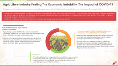 Agriculture Industry Feeling The Economic Instability The Impact Of Covid 19 Ppt Inspiration Graphics PDF