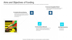 Aims And Objectives Of Funding Ppt Show Slide PDF