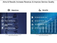 Aims And Results Increase Revenue And Improve Service Quality Ppt PowerPoint Presentation Gallery Design Inspiration