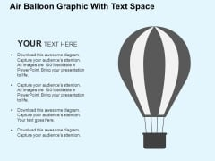 Air Balloon Graphic With Text Space Powerpoint Templates