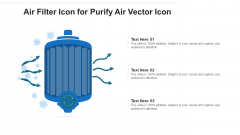Air Filter Icon For Purify Air Vector Icon Ppt Icon Clipart Images PDF