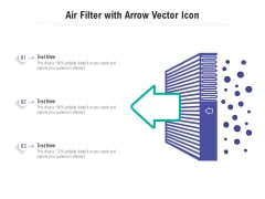 Air Filter With Arrow Vector Icon Ppt PowerPoint Presentation File Elements PDF