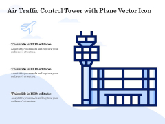 Air Traffic Control Tower With Plane Vector Icon Ppt PowerPoint Presentation Inspiration Portrait PDF