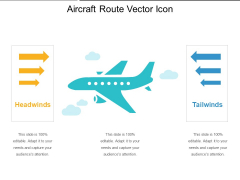 Aircraft Route Vector Icon Ppt PowerPoint Presentation File Visual Aids PDF