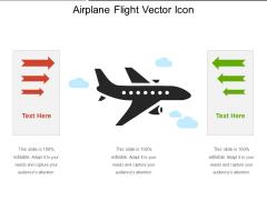 Airplane Flight Vector Icon Ppt PowerPoint Presentation Gallery Summary PDF