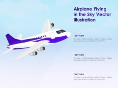 Airplane Flying In The Sky Vector Illustration Ppt PowerPoint Presentation Gallery Background Designs