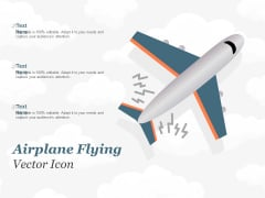 Airplane Flying Vector Icon Ppt PowerPoint Presentation Visual Aids Inspiration