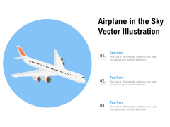Airplane In The Sky Vector Illustration Ppt PowerPoint Presentation Slides Background Image