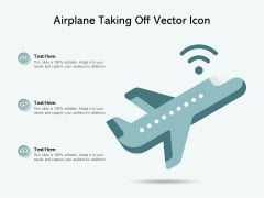 Airplane Taking Off Vector Icon Ppt PowerPoint Presentation Layouts Themes PDF