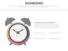 Alarm Clock Dashboard Design For Time Management Powerpoint Slides