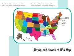 Alaska And Hawaii Of USA Map Ppt PowerPoint Presentation Show Mockup PDF