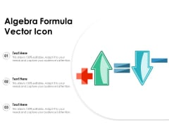 Algebra Formula Vector Icon Ppt PowerPoint Presentation Gallery Outline PDF