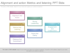 Alignment And Action Metrics And Listening Ppt Slide