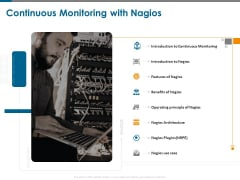 All About Nagios Core Continuous Monitoring With Nagios Ppt PowerPoint Presentation Portfolio Vector PDF
