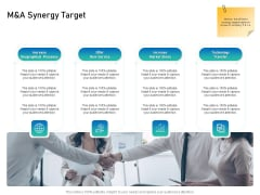 Alliance Evaluation M And A Synergy Target Ppt Portfolio Maker PDF