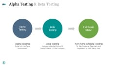 Alpha Testing And Beta Testing Ppt PowerPoint Presentation Summary