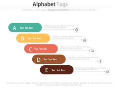 Alphabet Steps For Financial Strategy Analysis Powerpoint Slides