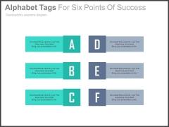Alphabet Tags For Agenda Slide Powerpoint Slides