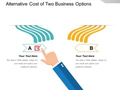 Alternative Cost Of Two Business Options Ppt PowerPoint Presentation Examples PDF