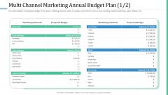 Alternative Distribution Advertising Platform Multi Channel Marketing Annual Budget Plan Ads Graphics PDF