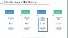 Alternative Distribution Advertising Platform Utilize The Power Of CRM Platform Icons PDF