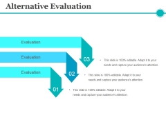 Alternative Evaluation Ppt PowerPoint Presentation Infographic Template Inspiration