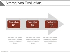 Alternatives Evaluation Ppt PowerPoint Presentation Background Image