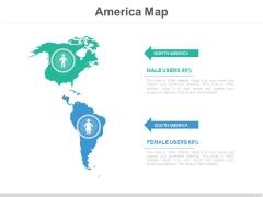 America Map Ppt Slide