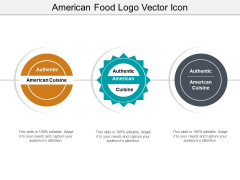 American Food Logo Vector Icon Ppt PowerPoint Presentation Infographics Vector