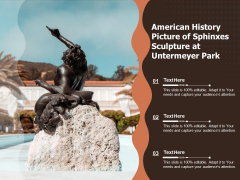 American History Picture Of Sphinxes Sculpture At Untermeyer Park Ppt PowerPoint Presentation Gallery Introduction PDF