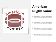 American Rugby Game Ppt PowerPoint Presentation Layouts Deck