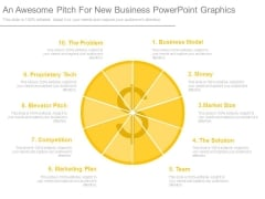 An Awesome Pitch For New Business Powerpoint Graphics