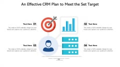 An Effective CRM Plan To Meet The Set Target Ppt PowerPoint Presentation Icon PDF