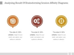 Analysing Result Of Brainstorming Session Affinity Diagrams Ppt PowerPoint Presentation Sample