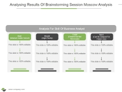 Analysing Results Of Brainstorming Session Moscow Analysis Ppt PowerPoint Presentation Show Slide Download